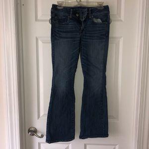 Super stretch, boot legged skinny jean